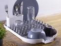 Odkapávač na nádobí s držákem na příbory plast/silikon