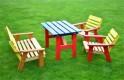 Zahradní nábytek dětský KASIA barevný