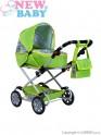 Dětský kočárek pro panenky 2v1 New Baby Monika zelený