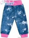 Kojenecké tepláčky s kapsami New Baby Light Jeansbaby růžové 80 (9-12m)