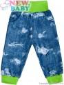 Kojenecké tepláčky s kapsami New Baby Light Jeansbaby zelené 80 (9-12m)