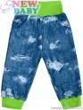 Kojenecké tepláčky s kapsami New Baby Light Jeansbaby zelené 86 (12-18m)