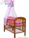 7-dílné ložní povlečení New Baby 90/120 cm + držák na nebesa hvězdičky růžové