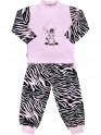 Dětské bavlněné pyžamo New Baby Zebra s balónkem růžové 80 (9-12m)