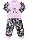 Dětské bavlněné pyžamo New Baby Zebra s balónkem růžové 128 (7-8 let)