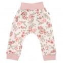 Kojenecké tepláčky New Baby Flowers růžové 80 (9-12m)