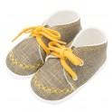 Kojenecké capáčky tenisky New Baby jeans mustard 0-3 m 0-3 m