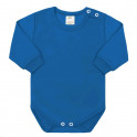 Kojenecké body s dlouhým rukávem New Baby modré 56 (0-3m)