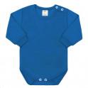 Kojenecké body s dlouhým rukávem New Baby modré 80 (9-12m)