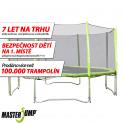 SET trampolína MASTERJUMP 396 cm + ochranná síť vnější