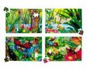 Puzzle pěnové v tubě HMYZ 30 x 45 cm, 54 dílků, assort 4 motivů