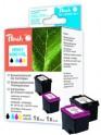 Inkoust Peach CC656AE + CC654AE, No.901+901XL Combi Pack kompatibilní barevný a černý PI300-401 pro HP OJ 4500, I4500 se