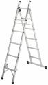 Hailo L80 hliníkový 3-funkční žebřík