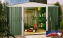 LanitPlast zahradní domek ARROW DRESDEN 1010 zelený + PRODLOUŽENÁ ZÁRUKA 120 MĚSÍCŮ