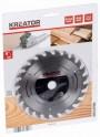Kreator KRT021600 - pilový kotouč na dřevo 165 mm, 24 Z