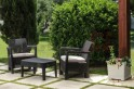 Zahradní set TARIFA BALCONY - hnědá+šedohnědé pod.