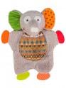 Tulíček s chrastítkem Baby Ono Sloník béžový