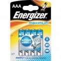 BAT MAXIMUM ALK LR03/4 4xAAA ENERGIZER
