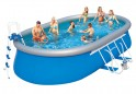 Bazén rodinný oválný 610 x 366 x 122 cm akční sada