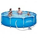 Bazén Bestway Steel Pro 56408 s konstrukcí 305 x 76 cm s filtrací